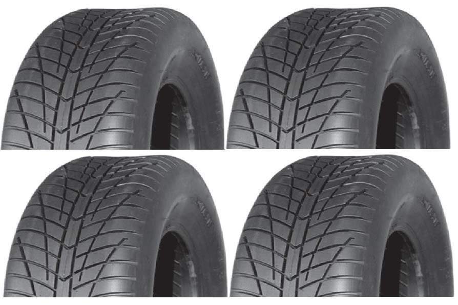 Lot 4 Pneus Quad Target U-RIDE P354 21x7x10 + 20x10x9 Port Offert