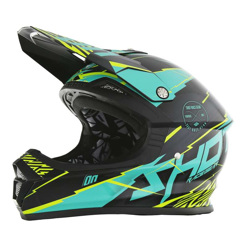 Casque cross SHOT FURIOUS INFINITY Mint Lime