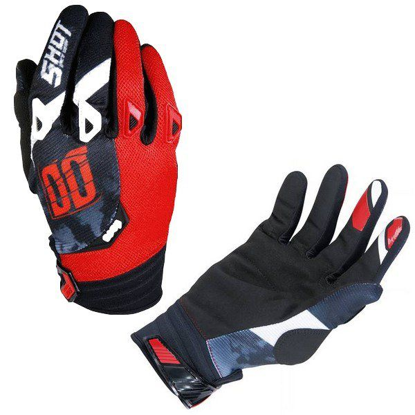 Gants Cross Shot Squad Rouge