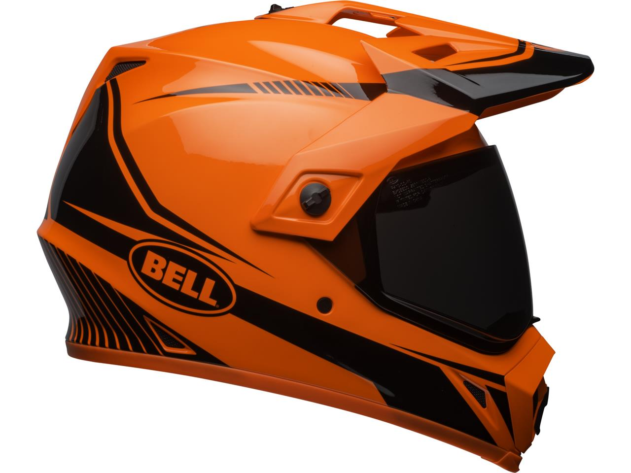 Casque BELL MX-9 Adventure MIPS Gloss HI-VIZ Orange/Black Torch