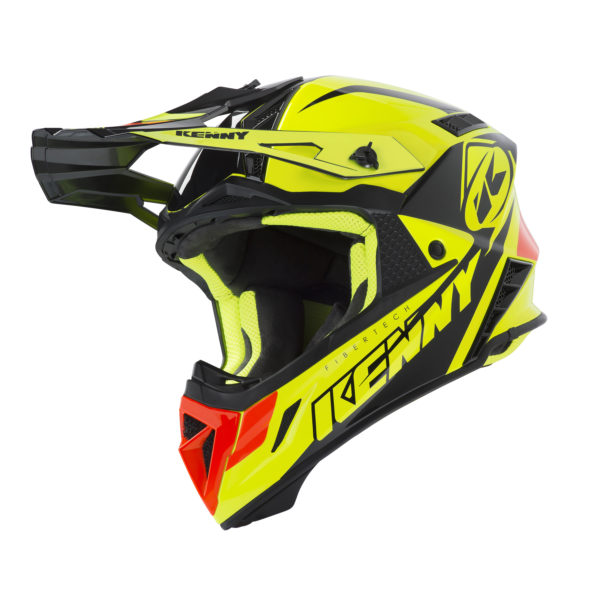 Casque cross Kenny Trophy jaune fluo/orange Adulte 1050 Gr