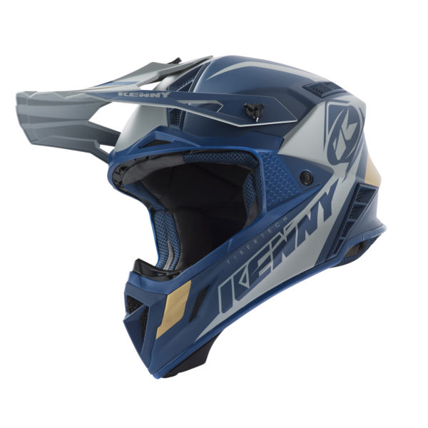 Casque cross Kenny Trophy Navy / Gold Adulte 1050 Gr