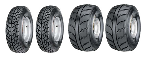 Lot de 4 Pneus  Kenda Speed Racer K546 21x7x10 / K547 20x11x9