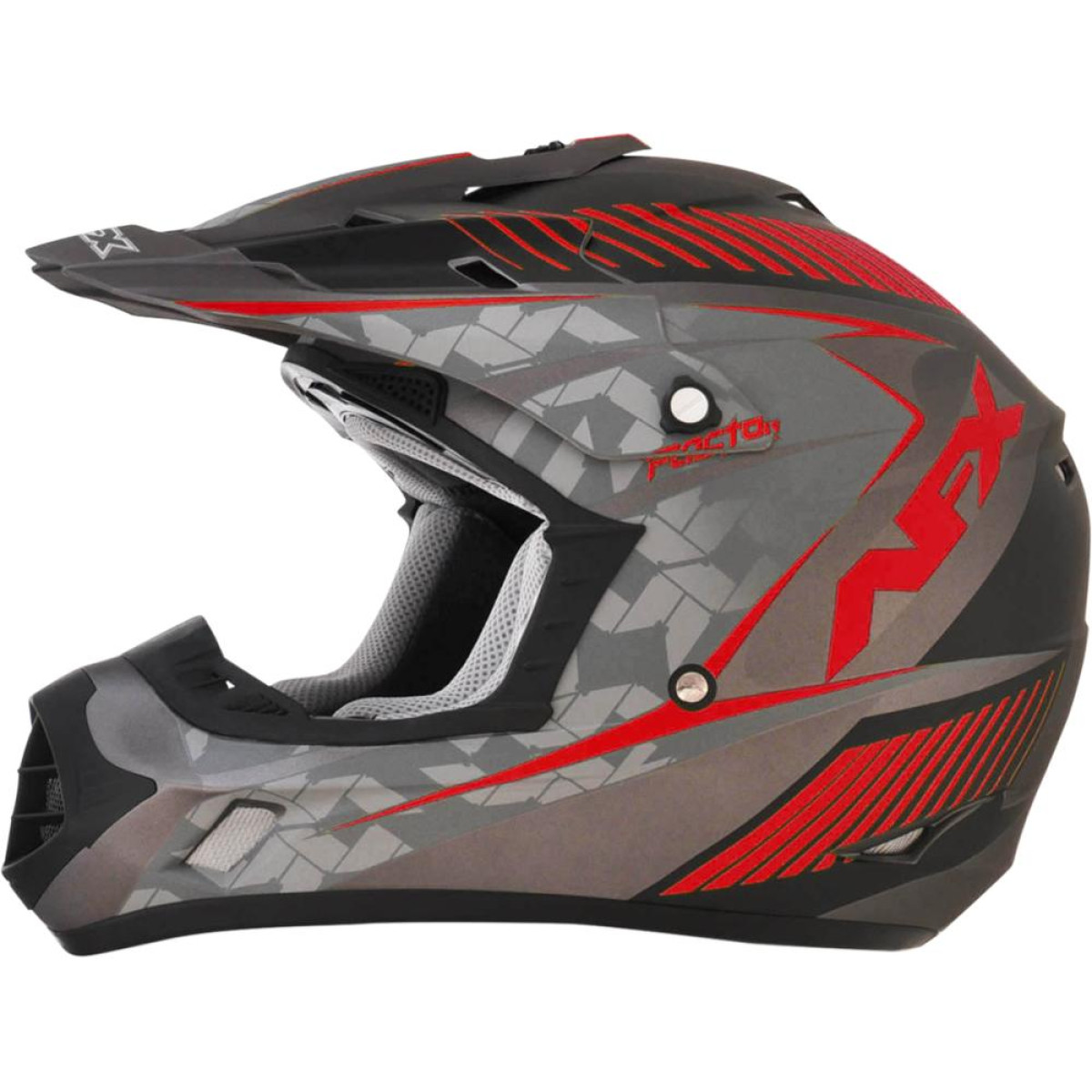 Casque Cross AFX FX-17 Factor Mat Rouge