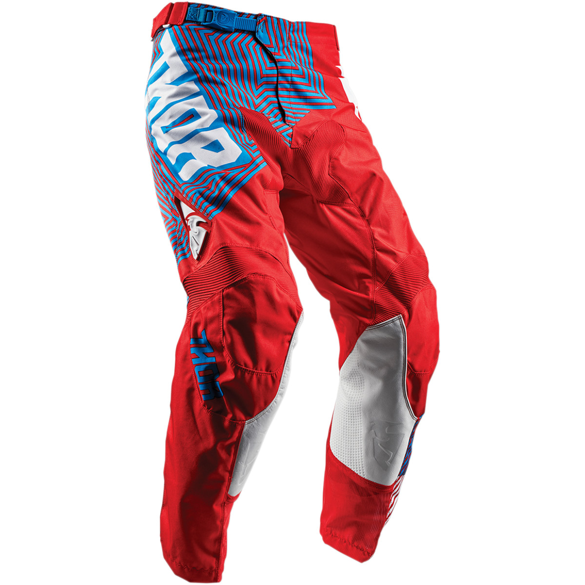 Pantalon Motocross Adulte Thor Pulse Geotec Rouge Bleu